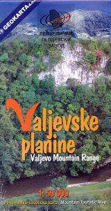 Valjevska Planine Massif - Tourist Map