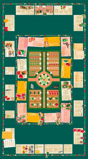 'NEW' The Vegetable Plot Tablecloth, Oilcloth (Short) - TableWise