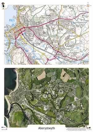 WALES FROM THE AIR - INDIVIDUAL DESKMATS (WG4628/i) - Wildgoose