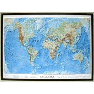 World Relief Map - Dark Frame