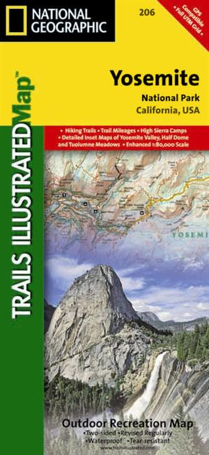 Yosemite National Park Outdoor Recreation Map